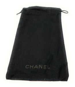 New Chanel Authentic Glasses Sunglasses Pouch Black Logo Italy