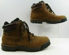 Men's Rockport Brown Leather Ankle Work Boots Size: 11.5 M