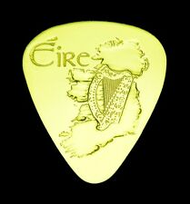IRELAND - EIRE- Solid Brass Guitar Pick, Acoustic, Electric, Bass