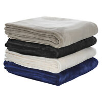 Bianca 350GSM Ultra Soft Velvet Blanket Super King|King|Queen|Double|K-S|Single