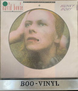 DAVID BOWIE - HUNKY DORY 1984 UK RCA PICTURE DISC LP - EX / EX CON
