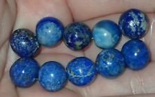 Lot of 10 Rare Old Persian Lapis Lazuli beads, 10-11.5mm, #S2965