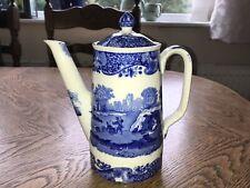 Antique Copeland Spode Italian Blue Coffee Pot