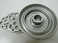 Vintage RWP Wilton Armetale Chamberstick Candle Holder USA Made Silver Pewter