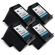 Reman HP 92 (C9362WN) Black Ink Cartridge for HP PhotoSmart C3180 C4180 4PK