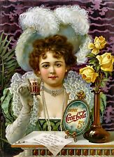 Drink Coca Cola 5 Cents Coke Vintage Advertising Poster Print On Canvas 16x20