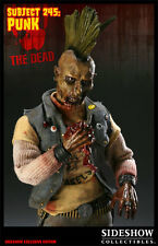 "Sideshow THE DEAD SUBJECT 245 PUNK EXCLUSIVE 1/6 scale 12"" figure SEALED TWD"