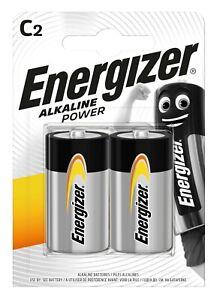 Energizer 2 Pack of C LR14 Long Lasting Power Alkaline Batteries Battery Pack