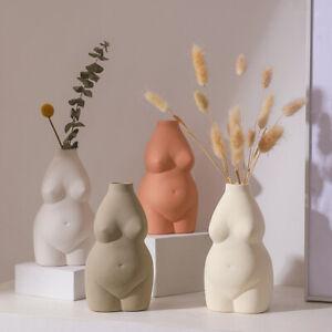Nordic Ceramic Art Body Vase Desk Ornaments Nude Abstract Flower Pot Home Dec OH