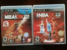 NBA 2K12 & 2K13 Sony PlayStation 3 PS3 Basketball Games CIB- Two Games Perfect!
