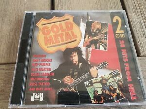 2CD GOLD METAL (Rare 80's ROSE TATTOO SUZI QUATRO SENSATIONAL ALEX HARVEY BAND)