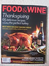 Food & Wine Magazine November 2011 Thanksgiving Delicious Recipes Perfect Turkey