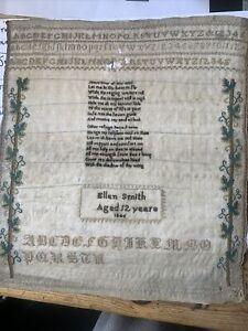 Antique Sampler, 1846 Ellen Smith