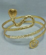 Snake Upper Arm Bracelet Cuff Bangle Armlet Belly Dance Gold Armband Fashion New