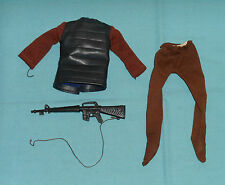 vintage Mego POTA Planet of the Apes SOLDIER APE TUNIC PANTS GUN clothes outfit