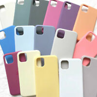 Case For iPhone 12 Mini 11 Pro Max 7 8 XS XR X Shockproof Liquid Silicone Cover