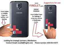 Finglet is a Cell Phone handle, finger grip holder, car mount and a kickstand