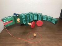 BREITSCHWERDT HOLZSPIELZEUG Toy Jouets Made In Germany Pull String Wooden Toy