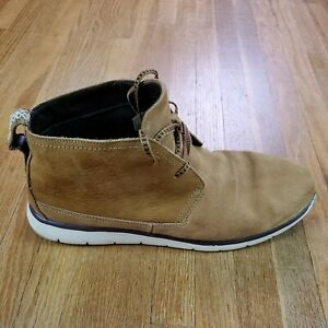 UGG Mens  Tan Chukka Boots Sz 10 Ankle Top Round Toe Lace Up