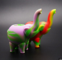 New Elephant Silicone Smoking Pipe Tobacco Holder Cigarette Glass Bowl Accessory