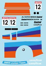 1/10 BMW320i Group 5 Junior Team RC Car Body Decal Sticker for Tamiya F103 F104