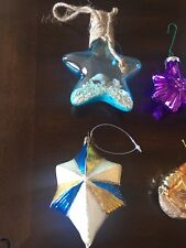 Lot Of 6 Christmas Ornaments Nautical Themed