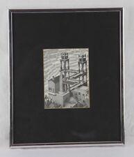 """M C Escher """" Waterfall """" Print  Mounted - Framed 12.25"""" X 10.25"""""""