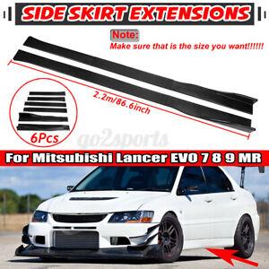 "86.6"" Carbon Style Side Skirt Rocker Panels For MitsubishiLancerEVO789MR"