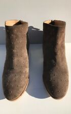 "LUCKY BRAND ""BREENA"" WOMEN'S STUDDED LIGHT BROWN SUEDE ANKLE BOOTS SIZE 8"