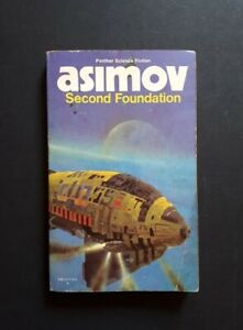 ISAAC ASIMOV: Second Foundation 1979 PANTHER SCIENCE FICTION PAPERBACK