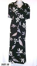 LADIES LOVELY BLACK&WHITE LEAF PATTERN 2 PIECE SET SUMMER SUIT BERKERTEX SIZE 16