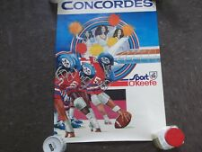 MONTREAL CONCORDES VINTAGE ADVERTISING POSTER WITH CHEERLEADERS/PLAYERS