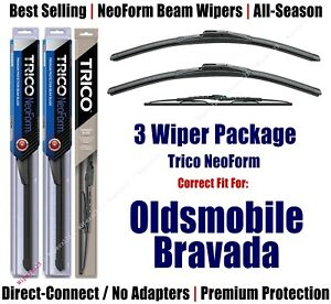 3pk Wipers Front & Rear NeoForm - fit 2001-2004 Oldsmobile Bravada 16220x2/30160