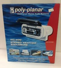 POLY-PLANAR WC-400 STEREO WEATHER ENCLOSURE WHITE OVERHEAD OR DASH MOUNT NEW