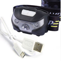 3000Lm USB LED Mini Rechargeable Headlamp Body Motion Sensor Camping Headlight