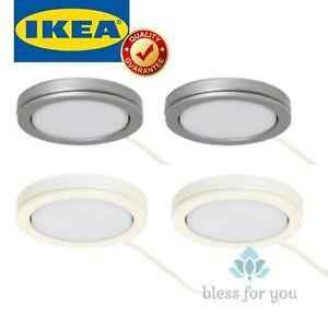 IKEA VAXMYRA White Aluminum Led Light Source Spotlight 2 pack
