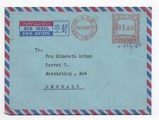 1967 PAKISTAN Air Mail Cover KARACHI to ÆRØ DENMARK Meter Mail MS HANS MAERSK