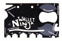 Wallet Ninja 18 in 1 Multi-purpose Credit Card Pocket Size Multi-Tool Gift UK