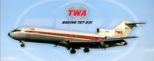 TWA Airlines Boeing 727-231 Handmade Photo Magnet (PMT1676)