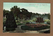 La Crosse,WI Wisconsin, Oak Grove Cemetery, fountain shown