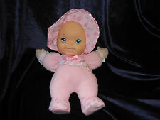 FAO SCHWARZ STUFFED PLUSH CLOTH BABY GIRL DOLL RUBBER FACE GOLDBERGER LAUGH TALK