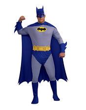"""Disfraz De Batman clásica para hombre valiente Negrita, Plus, pecho 46-52"""", cintura 42 pierna -46"""", 33"""""""
