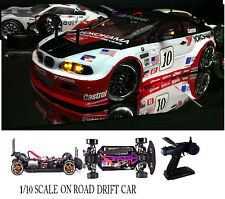 1/10 Scale BMW M3 RTR Custom RC Drift Cars 4WD 2.4Ghz & Charger RED/WHT/BLUE