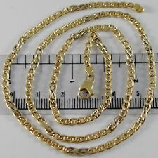 18K YELLOW WHITE GOLD CHAIN 3 MM CLASSIC NAVY INFINITE LINK 19.7 MADE IN ITALY