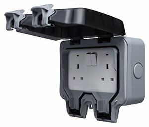 BG WP22 13 A 2-Gang Storm Weatherproof Outdoor Switched Socket Double Pole