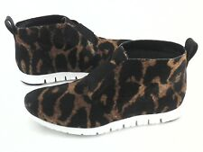 COLE HAAN Chukka Bootie Leopard Calf Hair Shoes Sneakers Women's US 8 EU 39 $228