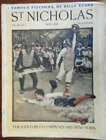 Arthur Rackham color plate 1914 St. Nicholas Magazine rare issue great ads