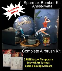 Bomber Airbrush Kit 2 - Sparmax Limited Edition  + Free Insured Freight