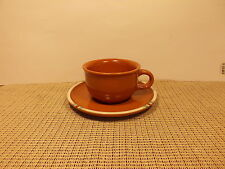 Dansk China Mesa Terra Cotta Cup & Saucer Set