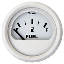 Faria Boat Marine Dress White  Fuel Gauge NEW!  13101